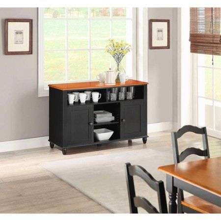 Better Homes and Gardens Autumn Lane Black Buffet For 55 inch TVs