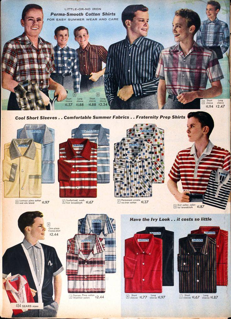 Sears Catalog, Spring/Summer 1958 - Boys' Shirts