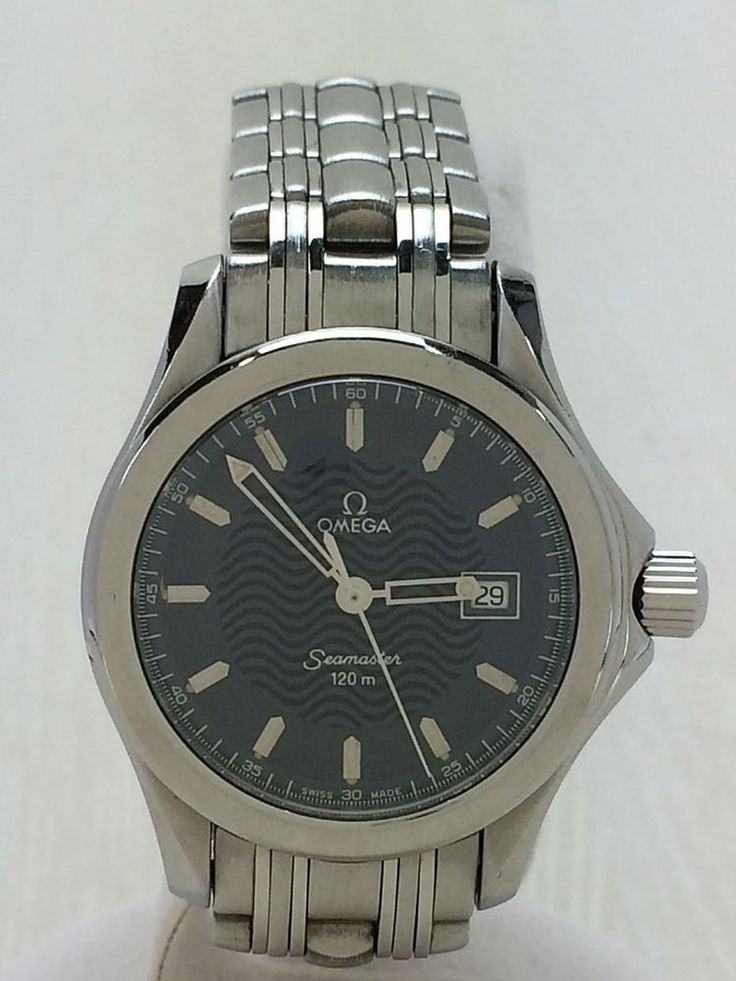 OMEGA seamaster 120m Small Scratches Yes Quartz Wrist Watch Analog SLV #OMEGA
