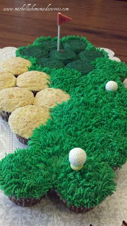 Golf Cupcake Cake by Michelle's HOMEMADE Sweets