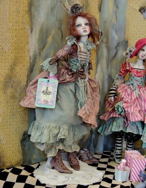 The look on this dolls face is artistic. val zeitler