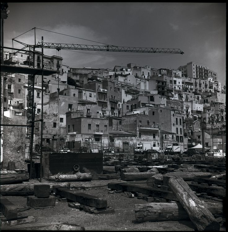Sicily, Black and white landscape photography of Sciacca, Agrigento.