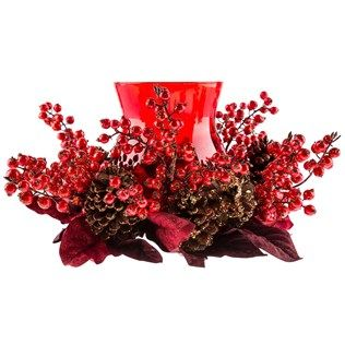 Red Glitter Berry Candleholder | Shop Hobby Lobby ... on Candle Globes Hobby Lobby id=33151