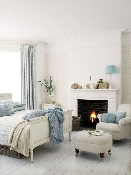 january decor inspiration vintage bedroomsblue - Blue And White Bedroom Designs