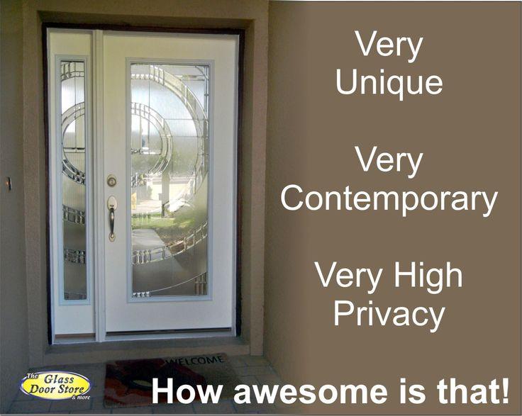 Modern Glass Door Inserts For Fiberglass Prehung Exterior Entry Doors