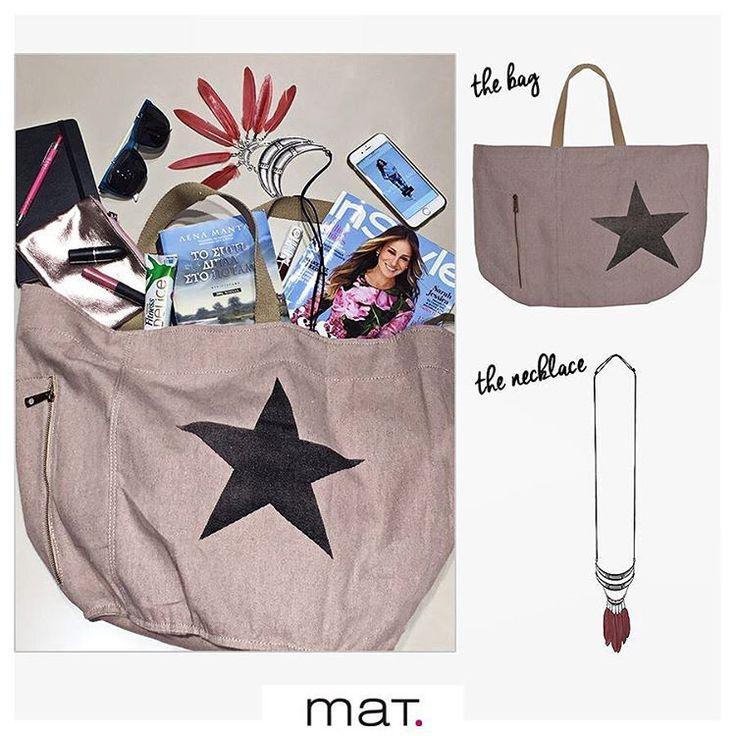 Eίμαστε έτοιμες για την Κυριακάτικη βόλτα! Βάλαμε τα αγαπημένα μας βιβλία & περιοδικά καθώς και όλα τα απαραίτητα στη νέα #matfashion shopper bag και μένει μόνο να βάλουμε το boho style κολιέ που ταιριάζει τέλεια με τα αέρινα ανοιξιάτικα σύνολα!  Ανακάλυψε την τσάντα [code: 679.9039] Ανακάλυψε το κολιέ [code: 679.9028] #sundayfunday #lovematfashion #instylegreece #magazine #lenamanta #tospitidiplastopotami @psichogiosbooks