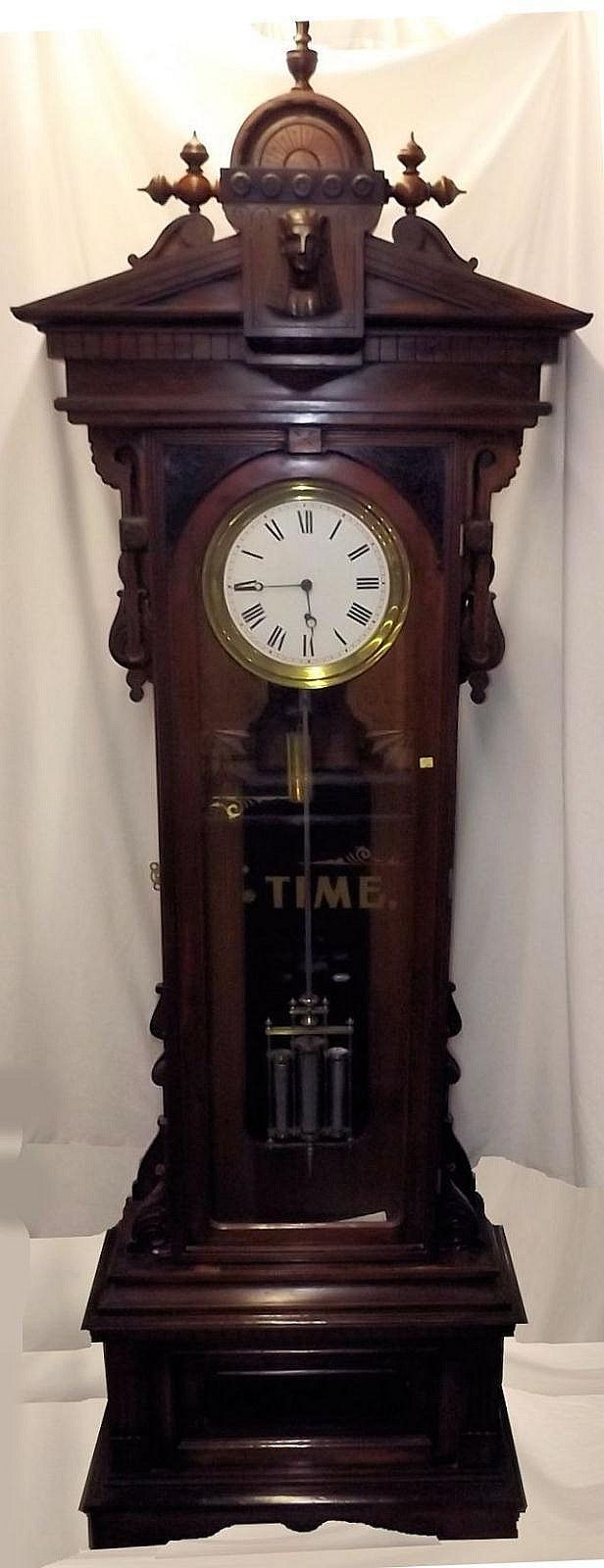 American Standing No. 16 Regulator By Gilbert - by Berner's Auction Gallery