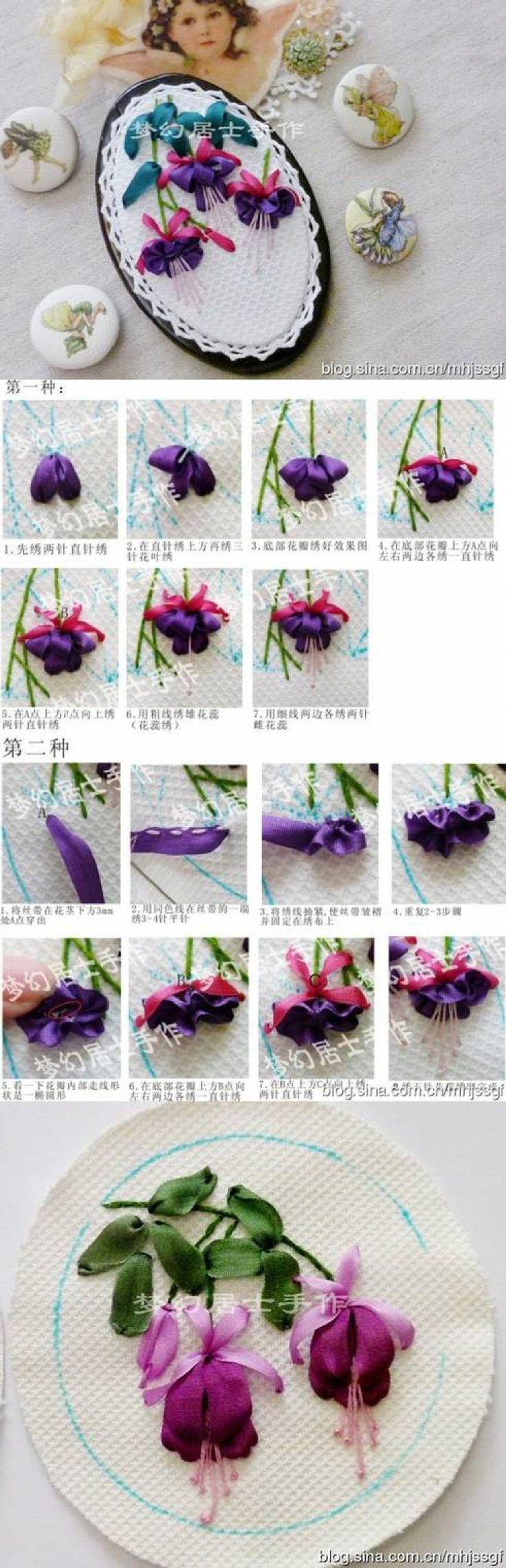 Ribbon embroidery bedspread designs - I Ribbon Embroidery Diy Hand Ribbon Embroidery