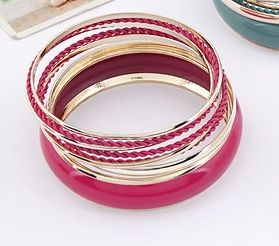 Plum multilayer fashion bangles  Code: A26375  Price: R60.00