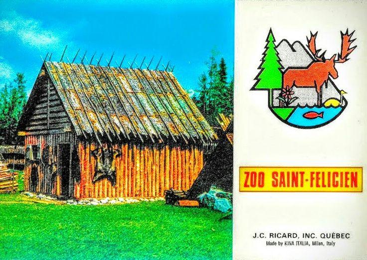 Poste de Traite et Campement des Amérindiens dans les Sentiers de la Nature au Zoo de St-Félicien