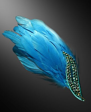 Zdenka Arko Aquamarine AB Crystallized Hair Piece HA11003-39 - Rhinestone Jewelry | Dancesport Fashion @ DanceShopper.com