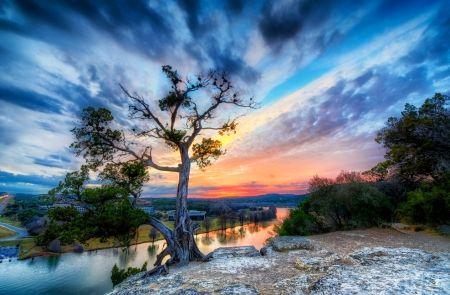 オースティン、テキサス州 河川 自然 高解像度で壁紙