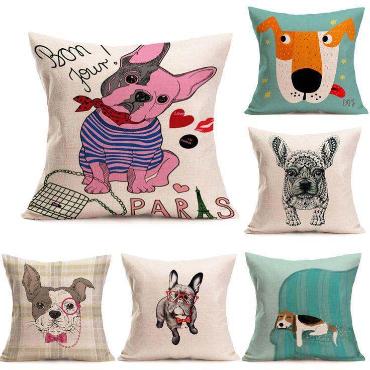 45cm*45cm Animal Animation Cartoon Dog Pillow Cover Sofa Cushion Cover  Decorative Cushion Covers Brand