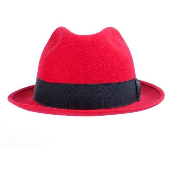 Preowned Kenzo 80s Red Fedora ($295) ❤ liked on Polyvore featuring accessories, hats, red, 80s hats, band hats, red fedora hat, kenzo hat and red hat