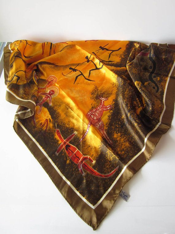 Aboriginal scarf. How to use it decoratively?