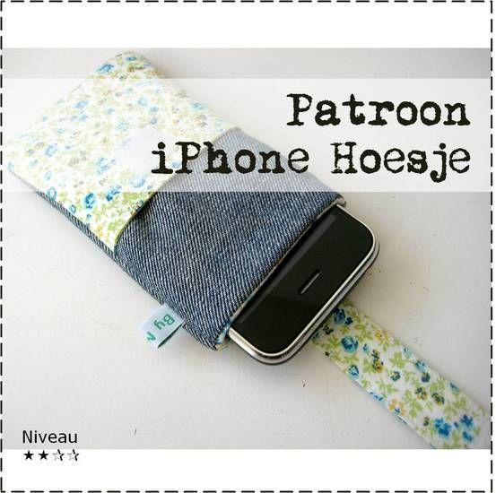 Patroon iPhone Hoesje - By MiekK. Ga ik absoluut maken van een kleurrijk stofje!