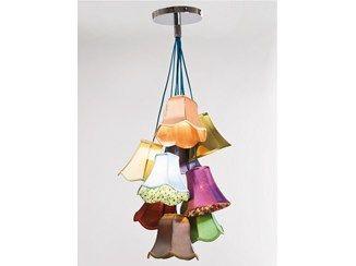 Indirect light fabric pendant lamp SALOON FLOWERS 9 - KARE-DESIGN