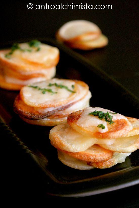 Torrette di Chips di Patate e Grana Lodigiano