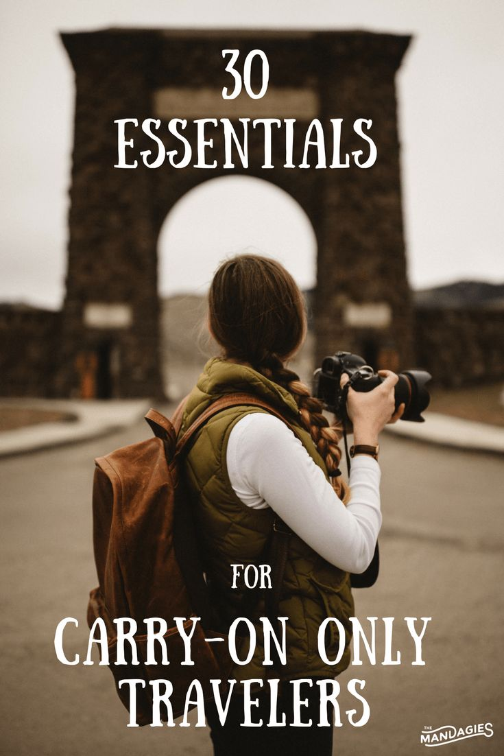 30 Essentials For Carry-On Only Travel ( + Free Download!) - The Mandagies. This post is a must read if you are wanting to travel might or travel minimal. Perfect for budget airlines, easy flight hacks, and speedy airport visits!