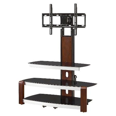 "London Flat Panel Console with Swing Floater/Fixed Arms Brown 41"" - Whalen : Target"