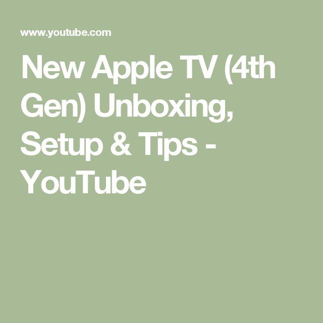 New Apple TV (4th Gen) Unboxing, Setup & Tips - YouTube