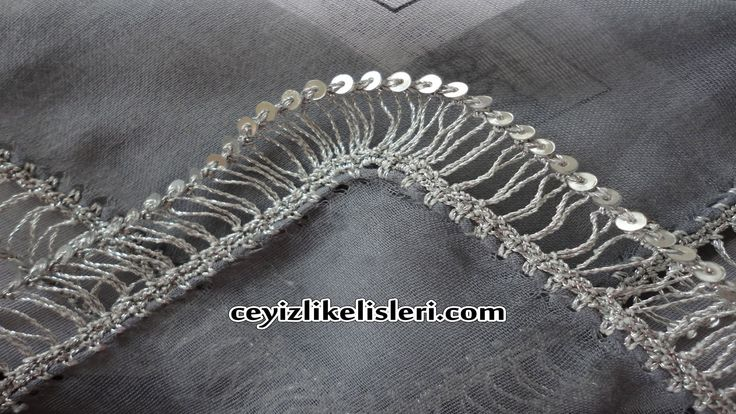 Yeni Pullu Firkete Oyası : New Sequin Hairpin Lace