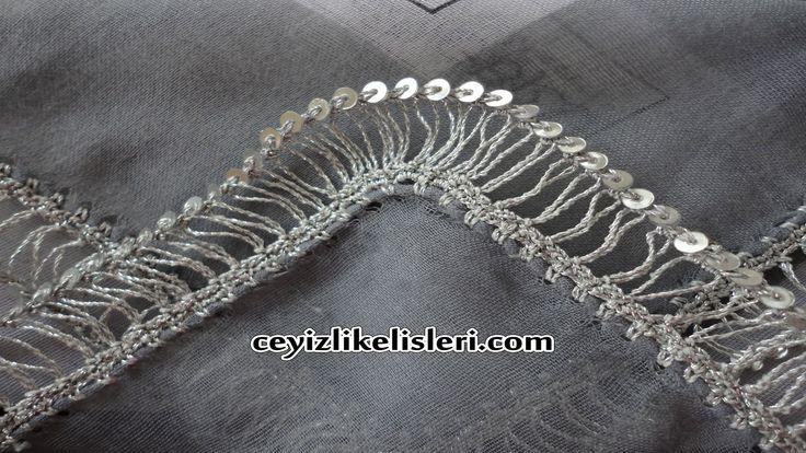 Yeni Pullu Firkete Oyası : New Sequin Hairpin Lace
