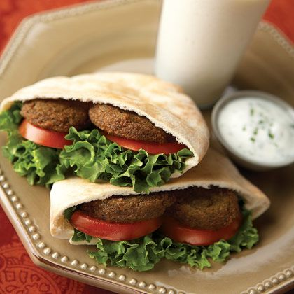 Falafel  A spicy Middle Eastern chickpea fritter, falafel can be served warm or as a nutritious sandwich filler.