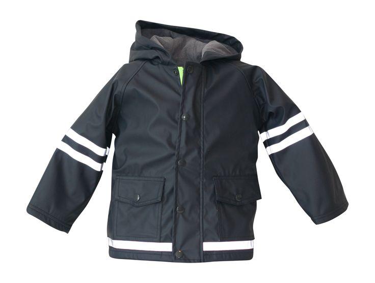 i Rock the Block Boys' Hi-Vis Rain Jacket  Navy