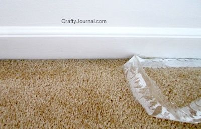 Crafty Journal - Easy No-Mess Way to Paint Baseboards