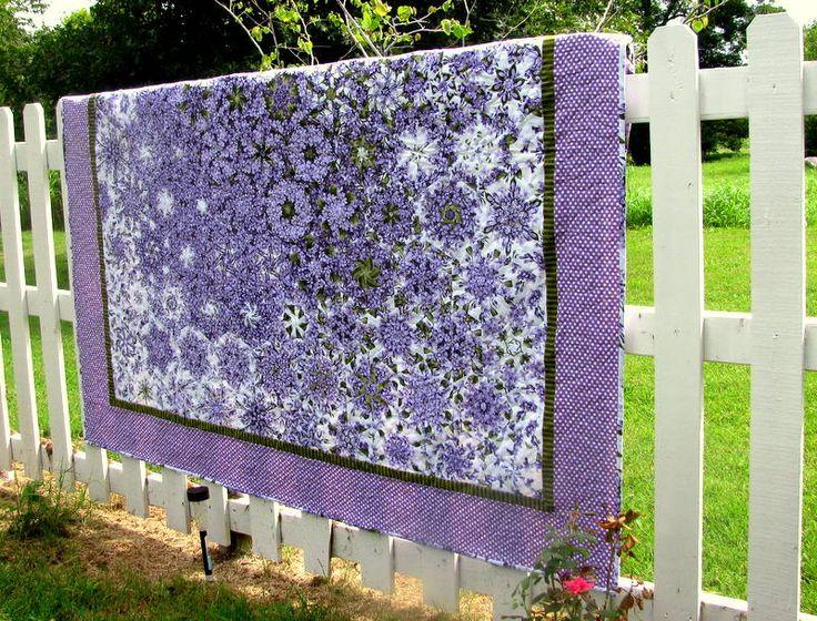 Kaleidoscope one block wonder quilt. Lilacs