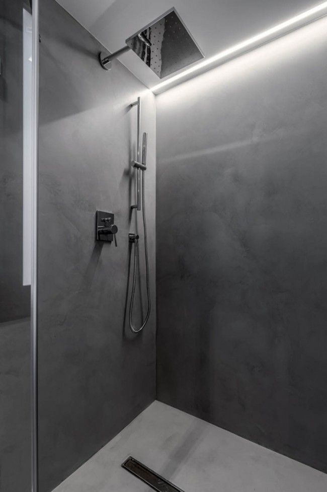 Indirect Led Ceiling Lighting In The Shower Area Eclairage Salle