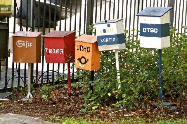 Mailboxes for the icebrakers, Katajanokka, Helsinki
