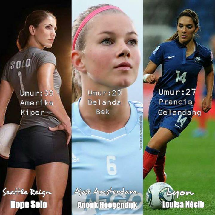 Para pemain #sepakbola wanita terseksi. :v #MemeBola #MemeIndonesia