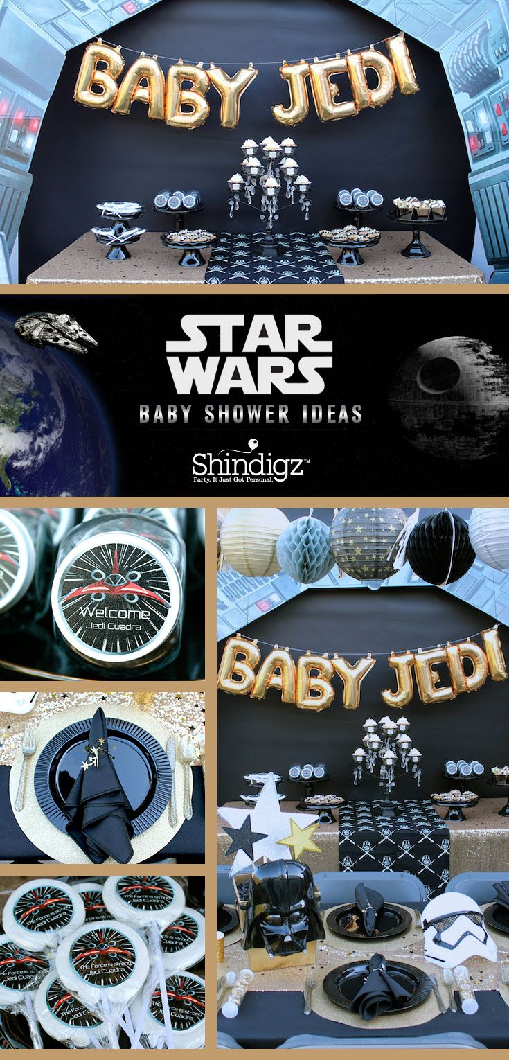 Celebrate the coming of your little Jedi with a Star Wars themed baby shower. Alert all commands! @lauraslilparty threw a Star War's baby shower and all the details are live on the blog! Don't miss this galatic baby shower!