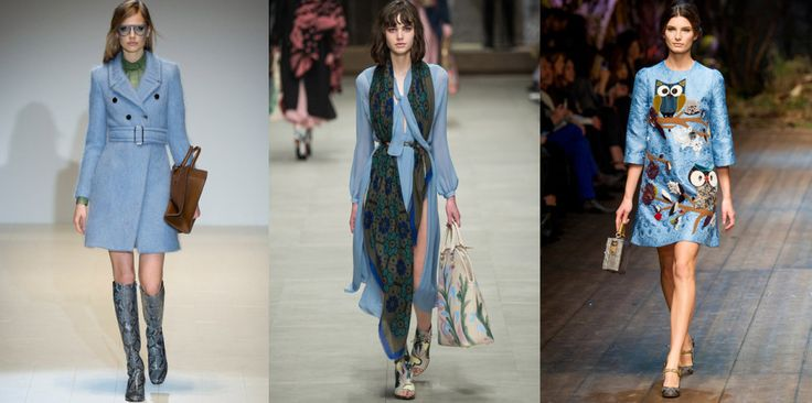 The Colors of FW14 – 10 Ways to Kick Out Black, Grey and Beige #blue #thedailydagny