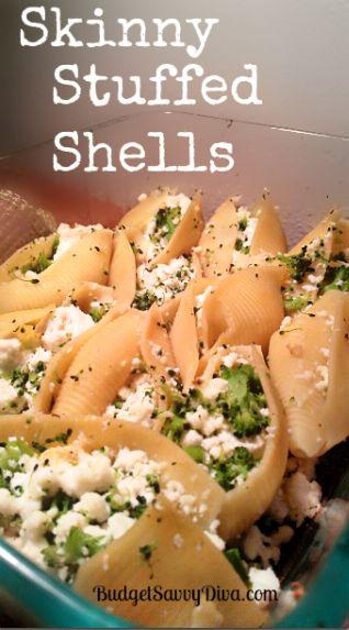 Skinny Stuffed Shells Recipe | Budget Savvy Diva