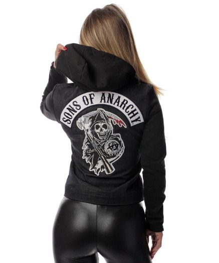 Women's Sons of Anarchy Denim Highway Jacket: Add this Women's Sons of Anarchy Denim Highway Jacket to… #TShirts #CustomShirts #BandTees