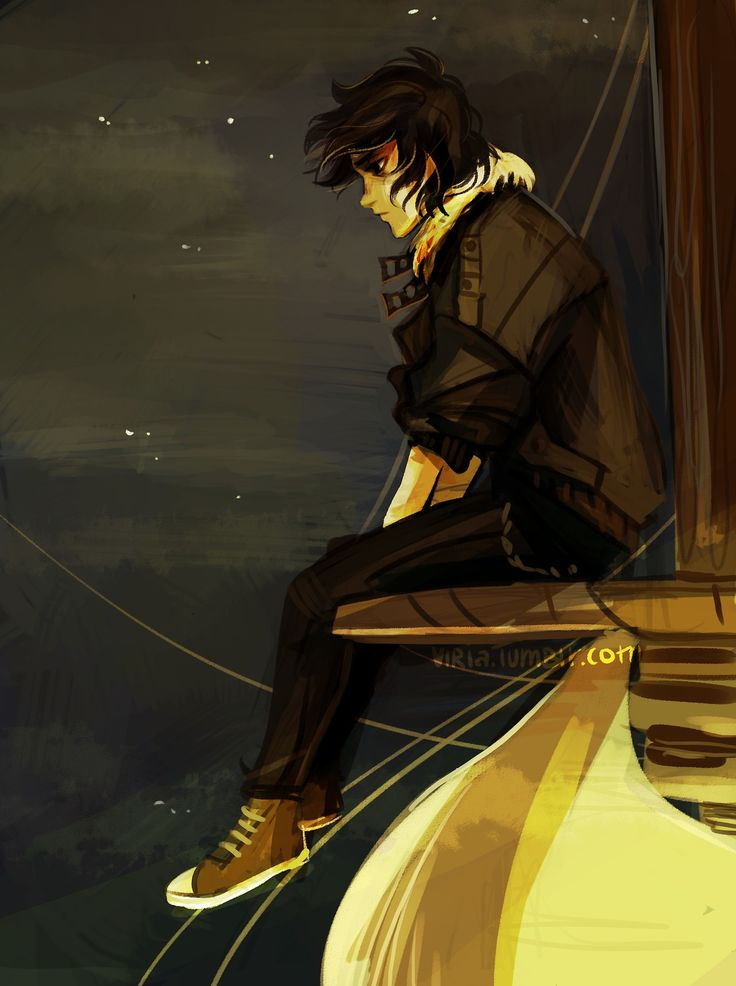 I'm pretty sure the PJO fandom's been blessed with amazing arists...   SPOILER But it made me so sad when it said nico was Alone in the mast the whole day..... MY BABY!!!!