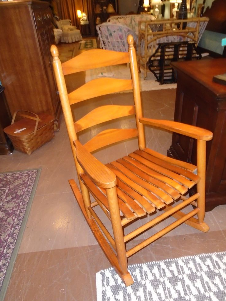 solid oak rocking chair  Couches and Chairs  Pinterest  Rocking ...