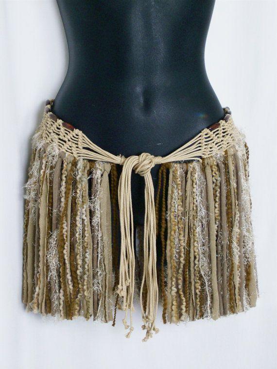 Festival skirt hip wrap hip belt gypsy boho skirt pixie by LamaLuz