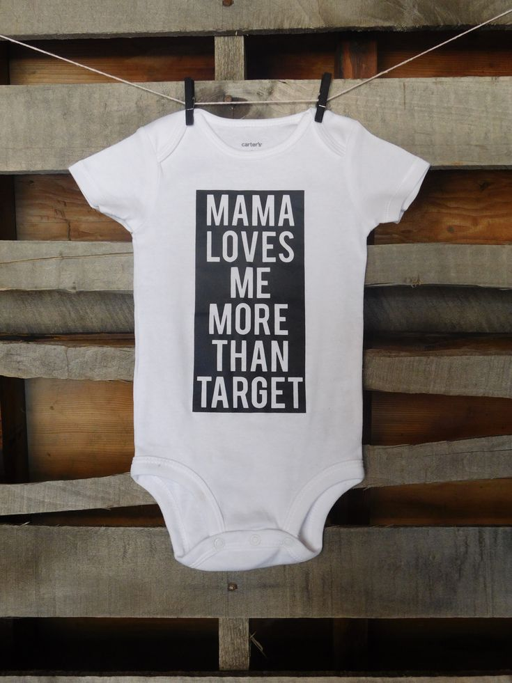 Mama Loves Me More Than Target   Funny baby onesie