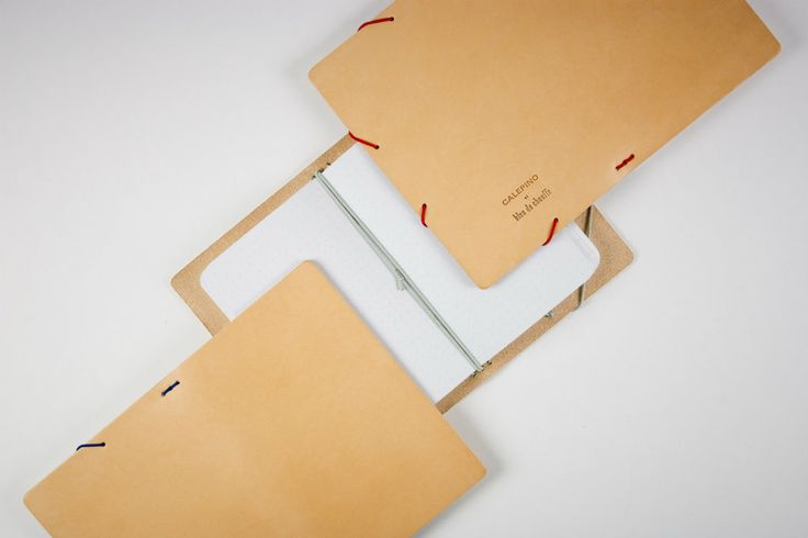 Refillable Leather notebook Calepino + Bleu de Chauffe : PORTFOLIO