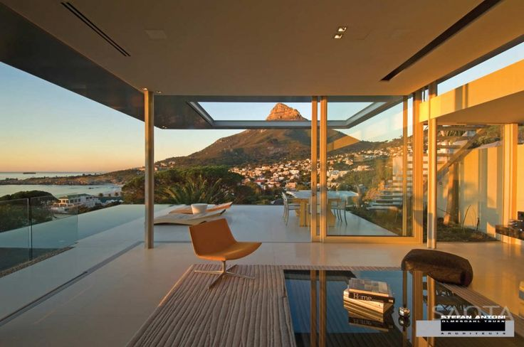 Z pięknym widokiemArchitects, Living Spaces, Interiors Design, Dreams House, Capes Town, South Africa, Stefan Antoni, Minimalist House, Crescents
