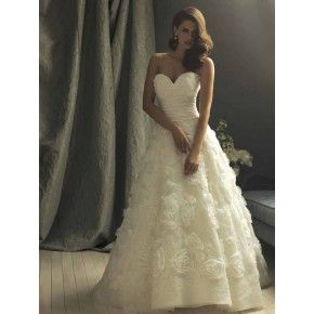 Size 6 -20 Ball Gown Sweetheart Chapel Train Satin Organza Couture Wedding Dress