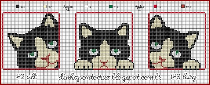http://dinhapontocruz.blogspot.com.br/2014/11/caes-gatos-ponto-cruz.html