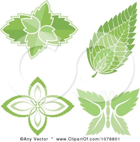 1078801-Clipart-Mint-Leaf-Designs-Royalty-Free-Vector-Illustration.jpg (450×456)