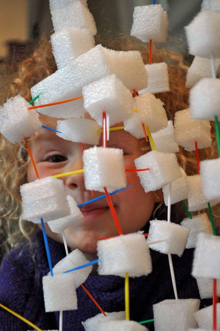 Almost free building activity that works on fine motor skills? Yes please!