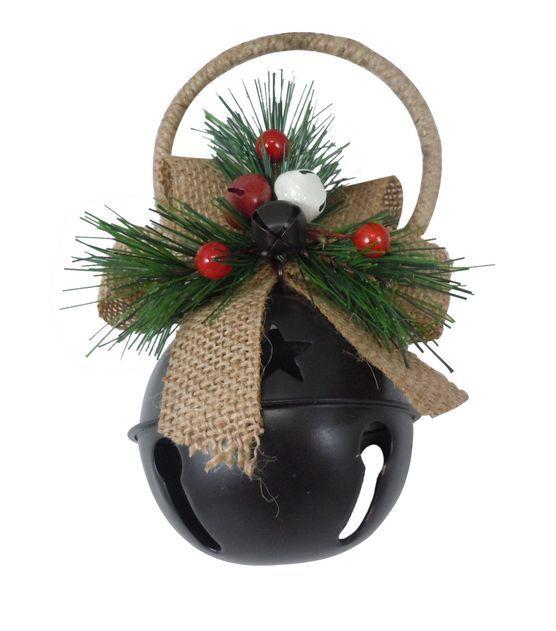 Homemade Christmas Ornaments Jingle Bells: Rustic Jingle Bell Door Hanger