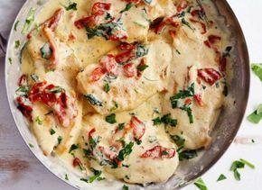 Recette facile de poulet crémeux à l'ail (style Toscane)